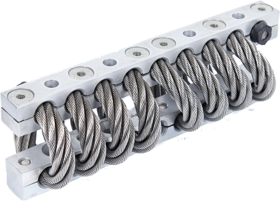 Full Helical Wire Rope Shock and Vibration Isolators - Vibro
